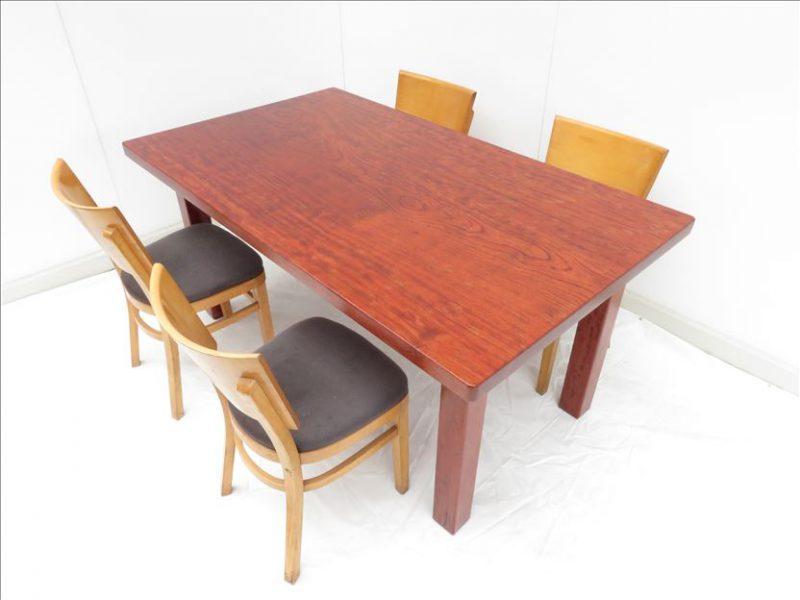 新商品 ブビンガ&桂 天然木一枚板テーブル