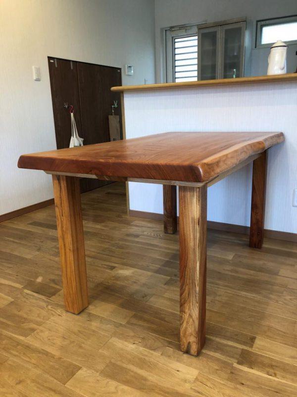 欅ダイニングテーブル 納品事例