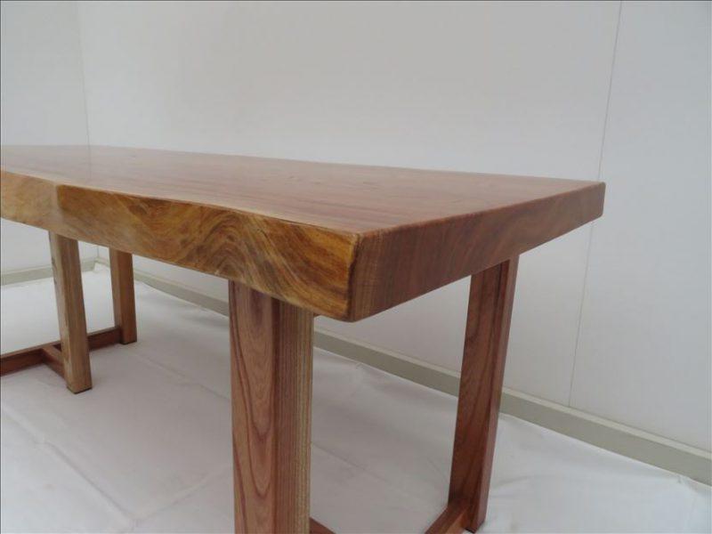 ケヤキ 一枚板テーブル (KE-001) 価格;170,000円