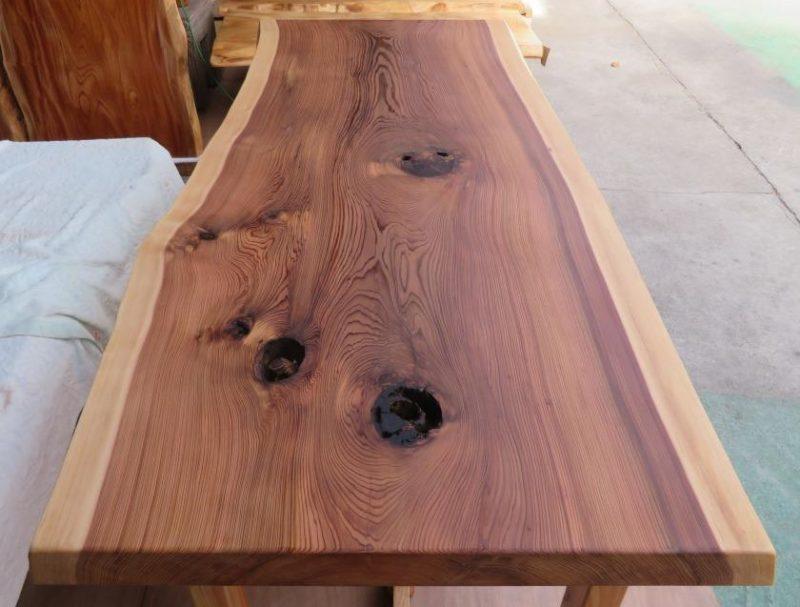 スギ 一枚板テーブル(SUO-002) 売約済み
