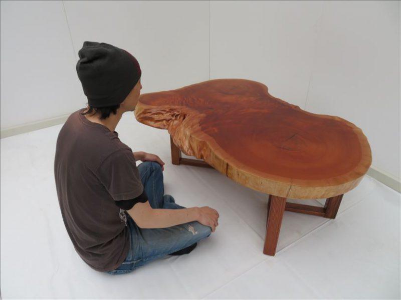 ケヤキ(社寺木) ソファーテーブル(KE-003) セール価格;98,000(円)