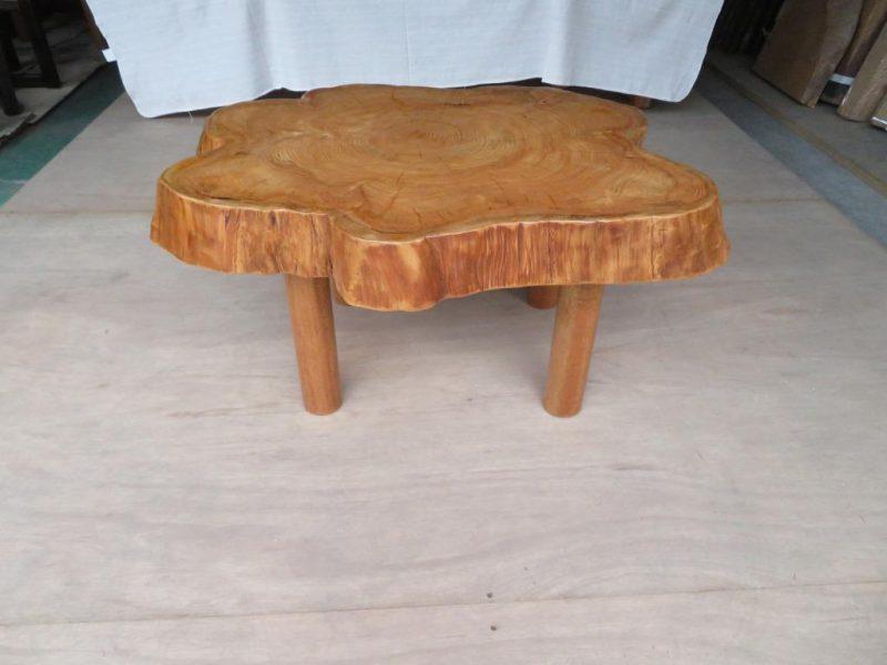 ケヤキ 天然木丸テーブル(KKE-007) 価格;45,000(円)