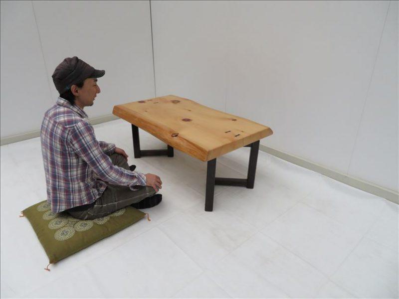 ヒノキ ソファーテーブル(KSE-001) 価格;65,000(円)