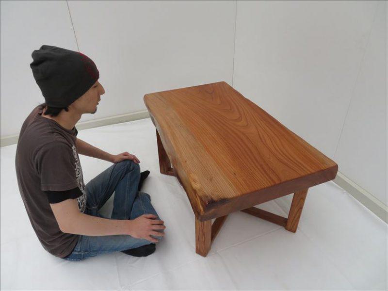 ケヤキ ソファーテーブル(KKE-005) 価格;40,000(円)