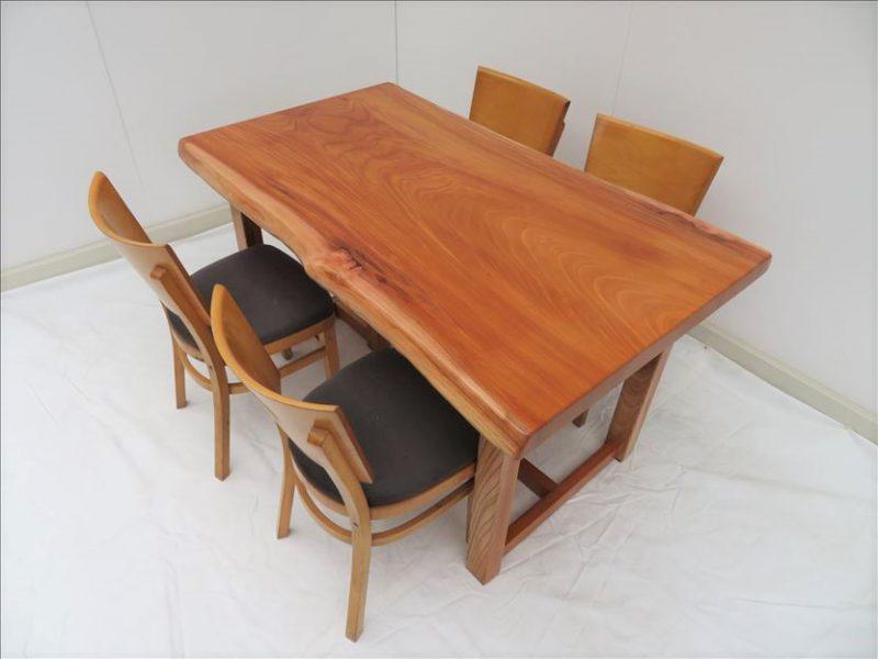 ケヤキ 一枚板テーブル (KE-007) 価格;売約済み