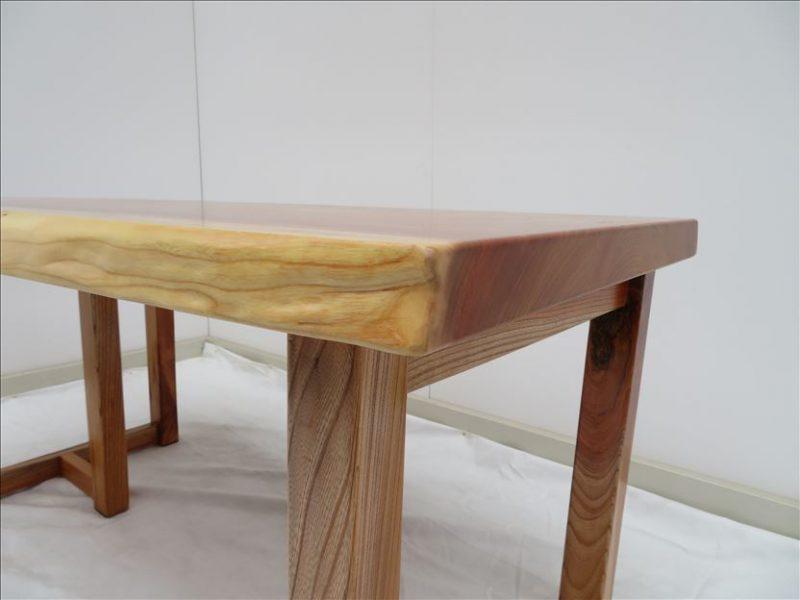 ケヤキ 一枚板テーブル (KE-009) 価格;195,000円