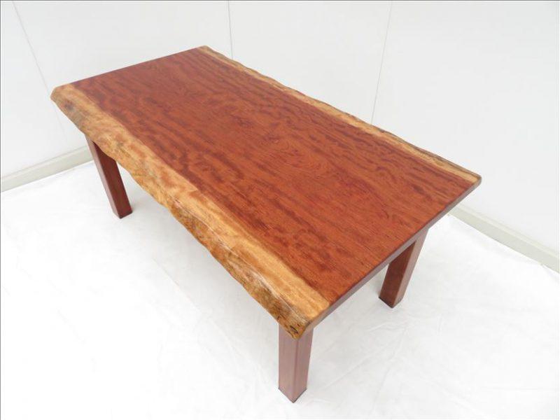ブビンガ 一枚板テーブル(BU-002)  価格;260,000(円)