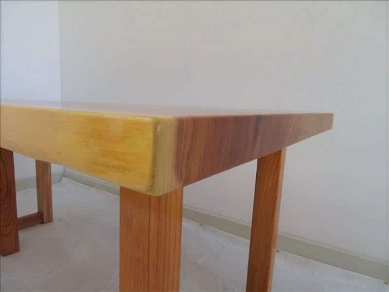 ケヤキ 一枚板テーブル (KE-012) 価格;200,000円