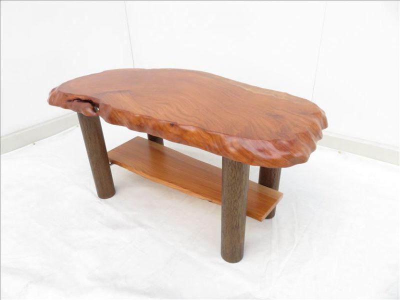 ケヤキ ソファーテーブル(KKE-006) 価格;55,000(円)