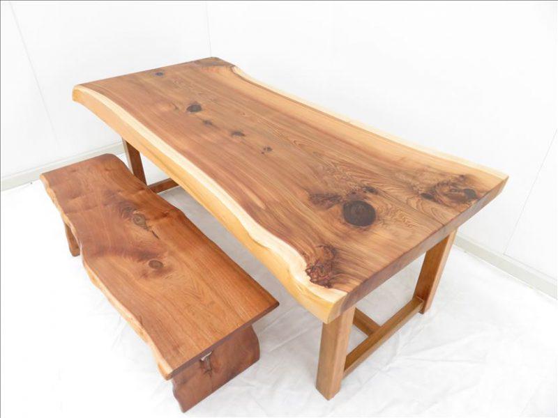 スギ 一枚板テーブル(SUO-004)  価格;280,000(円)