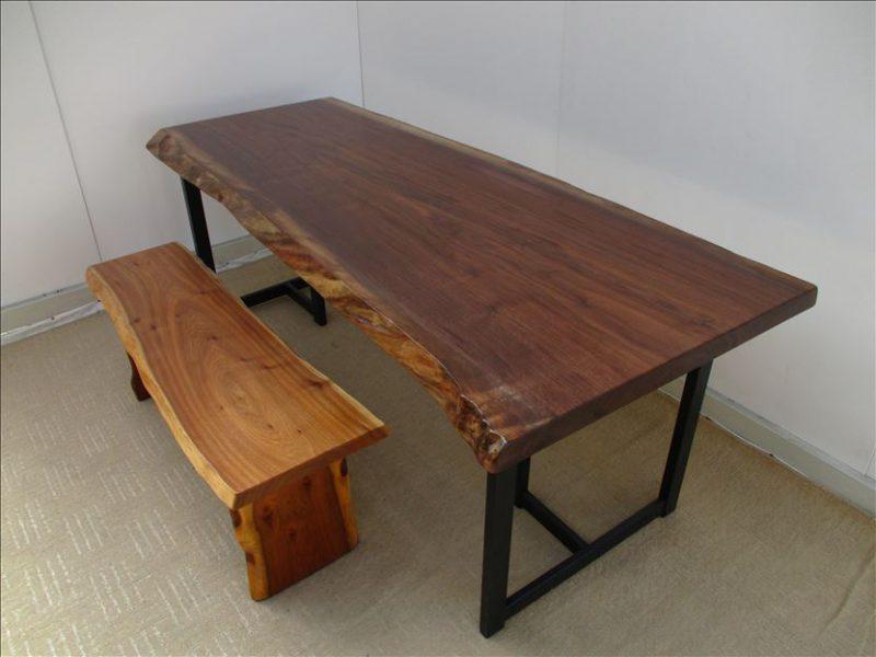 ウォールナット(BW-005) 一枚板テーブル 価格;400,000円