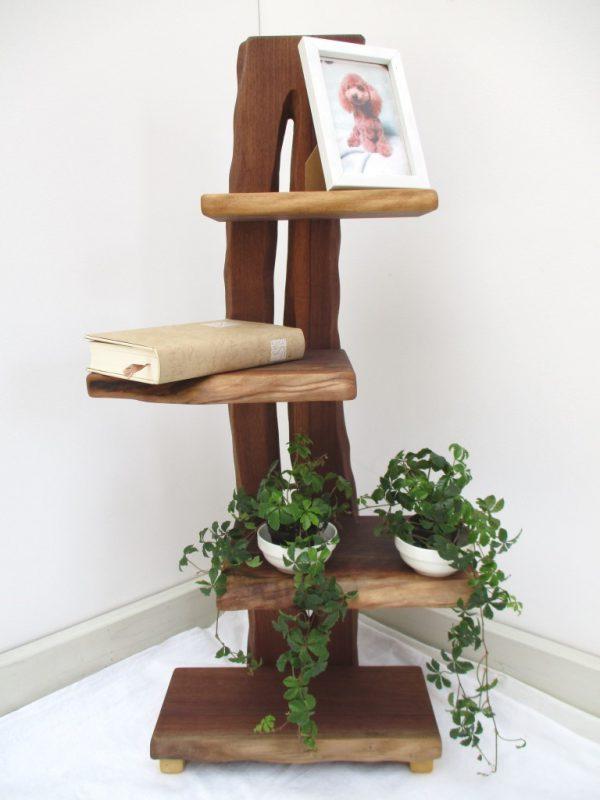 ウォールナット 天然木 ナチュラルウッドシェルフSW-002 価格;34,800円