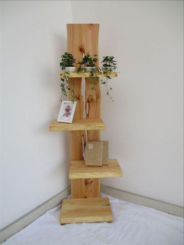 ヒノキ 天然木 ナチュラルウッドシェルフSHH-002 価格;59,800円