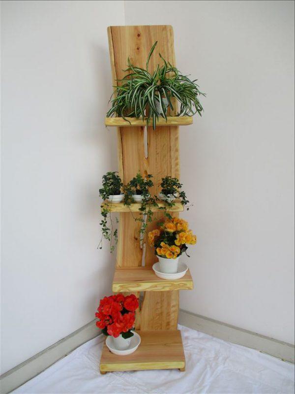 ヒノキ 天然木 ナチュラルウッドシェルフSHH-003 価格;59,800円