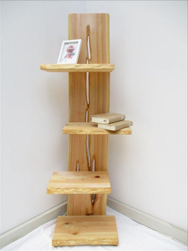 ヒノキ 天然木 ナチュラルウッドシェルフSHH-004 価格;59,800円
