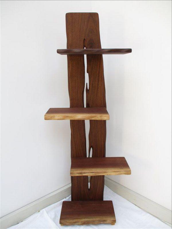 ウォールナット 天然木 ナチュラルウッドシェルフSW-001 価格;59,800円