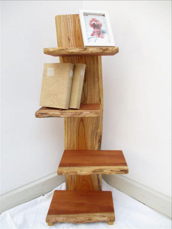 ケヤキ 天然木 ナチュラルウッドシェルフSKK-001 価格;28,000円