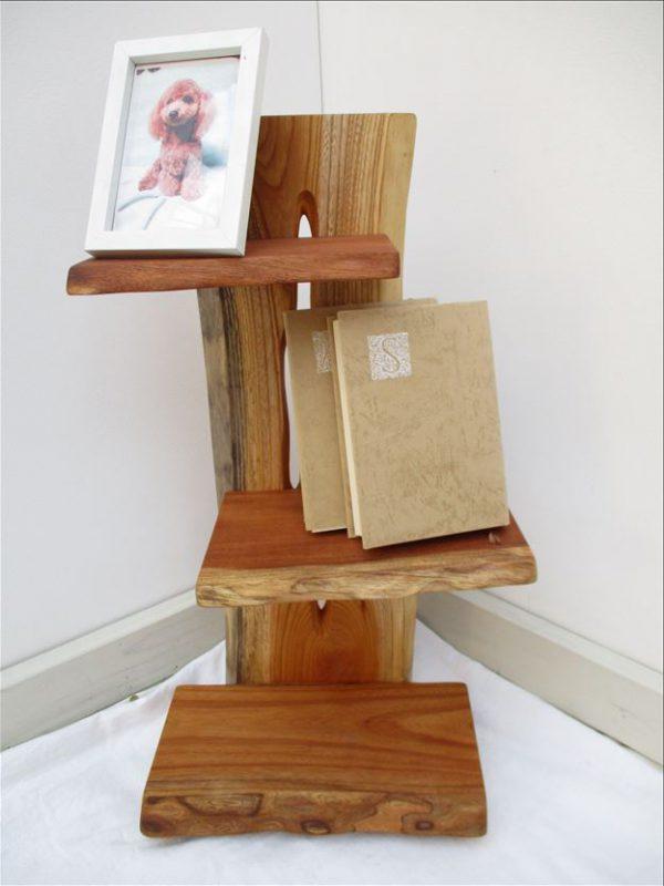 ケヤキ 天然木 ナチュラルウッドシェルフSKK-002 価格;19,800円