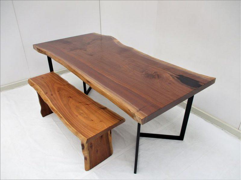 ウォールナット(BW-007) 一枚板テーブル 価格;190,000円
